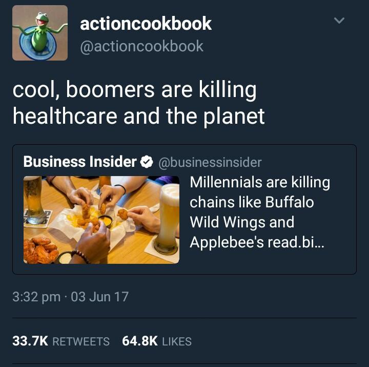 millennials killing applebees